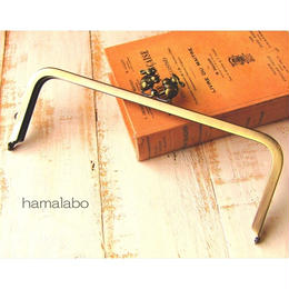 【HA-1529】24cm角型口金(うさぎ×アンティークゴールド)+(プラス)