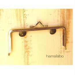 【HA-183】<復刻版口金>ヤスリ目13.5cm/角型(金)