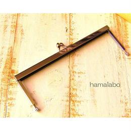 3月11日販売開始!【HA-1534】19cm浮き足口金/ナツメ玉(シルバー)