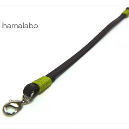 【HA-602】《高級レザー》がま口用の革紐(かわひも)22cm【シルバー金具】