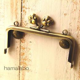 【HA-192】10cm/角型(肉球)・アンティークゴールド・カン付き