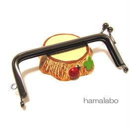 3月29日販売開始!【HA-1408】<横ひねり>10cm/角型の口金(ブラック)