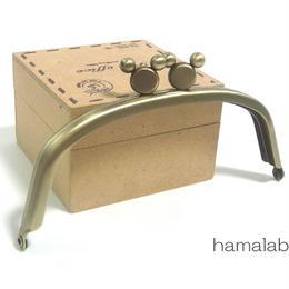 <廃盤予定>【HA-1308】ハマラボちゃん口金12.5cm/くし型(アンティークゴールド)