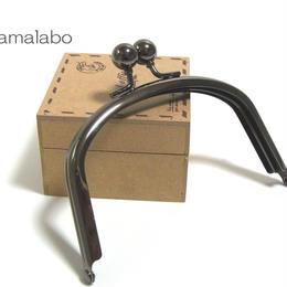 【HA-1288】アメ玉口金12cm/くし型(ブラック)