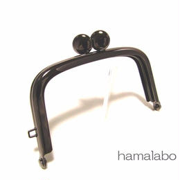 2月8日販売開始!【HA-1453】9.9cm/くし型の碁石口金(ブラック)