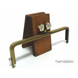 【HA-1243】16.5cm/角型(ホワイトローズ)・アンティークゴールド