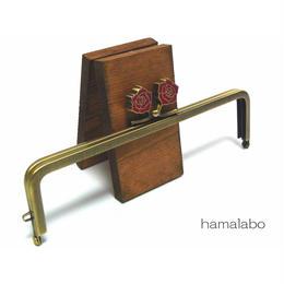 【HA-1244】16.5cm/角型(レッドローズ)・アンティークゴールド