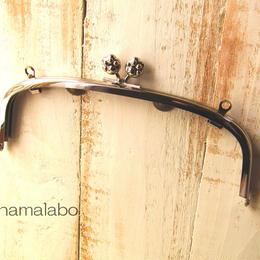 【HA-103】20.4cm/くし型(肉球/シルバー)・兼用カン付き