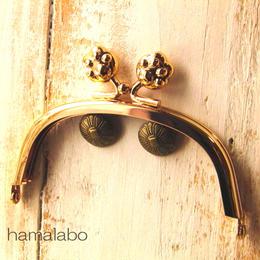 【HA-1102】10cm/くし型(肉球)・ゴールド