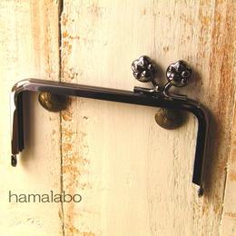 【HA-196】<横ひねり>12cm/角型(肉球)・ブラック