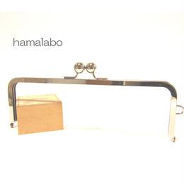 【HA-370】27cm大玉口金/角型シルバー/+(プラス)