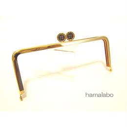 【HA-1325】ボタン口金/18cm角型(ゴールド)