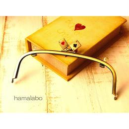 【HA-453】20.4cm/くし型(トランプ×アンティークゴールド)・兼用カン付き