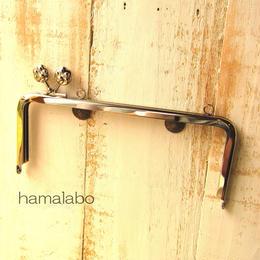 <廃盤予定>【HA-1108】<横ひねり>18cm/角型(肉球/シルバー)・カン付き