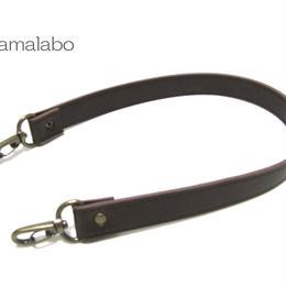 【HA-522】がま口バッグ用の持ち手50cm(茶色)-太め-アンティーク金具