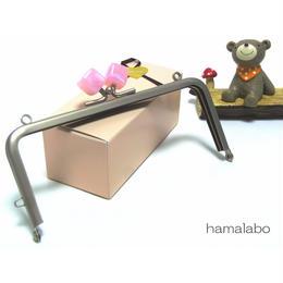 【HA-1380】13.5cm/角型(オーロラピンク×ソフトシルバー)・カン付き
