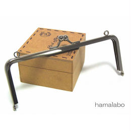 【HA-1353】15cm/角型(シルバー)・カン付き口金