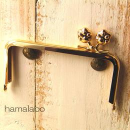 【HA-194】<横ひねり>12cm/角型(肉球)・ゴールド