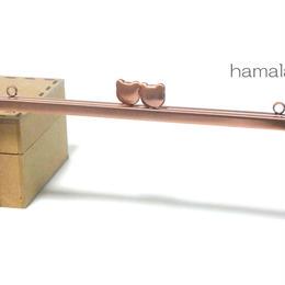 【HA-908】アウトレット ベアネコちゃん口金 16.5cm/角型(ピンクゴールド)カン付き