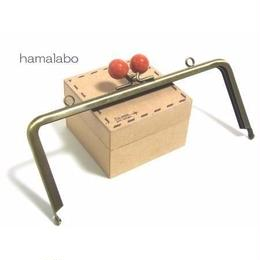 【HA-1213】18cm/角型(赤玉×アンティークゴールド)・カン付き