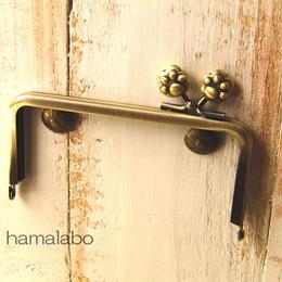 【HA-197】<横ひねり>12cm/角型(肉球)・アンティークゴールド
