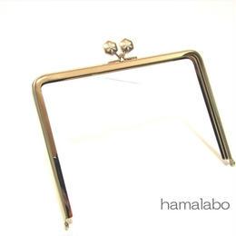 5月29日販売開始!【HA-1483】17.7cm/角型の口金(六花-雪の結晶×シルバー)