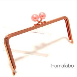 <母の日セール>【HA-1435】18cm/角型(ピンクパール玉×ローズゴールド-ピンクゴールド)