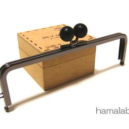 【HA-337】16.5cm木玉/角型(黒色の木玉×ブラック)