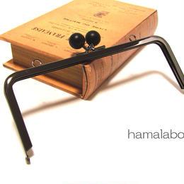 【HA-341】18cm木玉/角型(黒色の木玉×ブラック)・カン付き