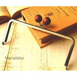 7月29日販売開始!【HA-1521】18cm/角型(ちょっと大きな茶色の木玉×アンティークゴールド)