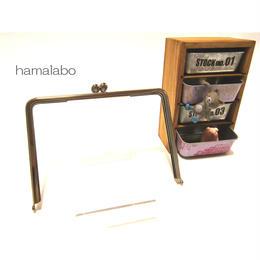 【HA-1347】17.7cm/角型の碁石口金(シルバー)