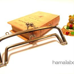 【HA-347】<廉価版>親子口金 19cm(アメ玉×シルバー)・カン付き
