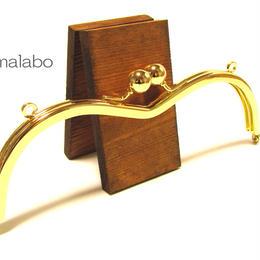 <廃盤予定>売り切り価格!【HA-1260】メガネ型口金(アメ玉×ゴールド)・カン付き