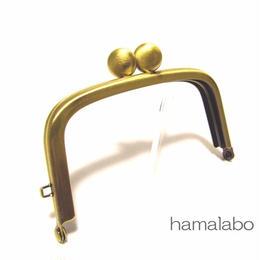 2月8日販売開始!【HA-1454】9.9cm/くし型の碁石口金(アンティークゴールド)