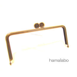 【HA-1327】ボタン口金/18cm角型(アンティークゴールド)