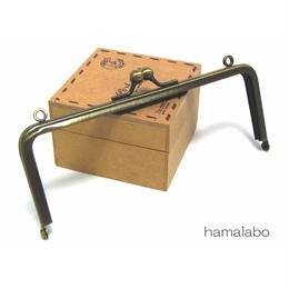 【HA-1355】15cm/角型(アンティークゴールド)・カン付き口金