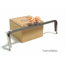 <廃盤予定>【HA-1253】16.5cm/角型(オレンジ×白のマリンボーダー)・シルバー