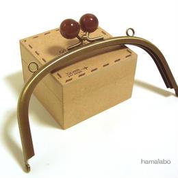 【HA-1420】15cm/くし型(べっ甲玉×アンティークゴールド)・カン付き