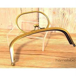 <廃盤予定>売り切り価格!【HA-1451】16cmくし型のリング付き口金(アンティークゴールド)