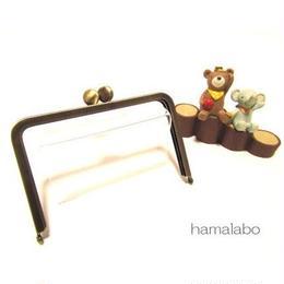 10月22日販売開始!【HA-1547】12.5cm/角型口金(アンティークゴールド)-碁石つまみ&足長
