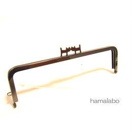 【HA-1323】ペアネコ口金/16.5cm角型(ブラック)