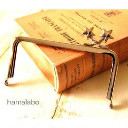 5月16日販売開始!【HA-1423】<横ひねり>12cm/角型の口金(メタルスター×シルバー)