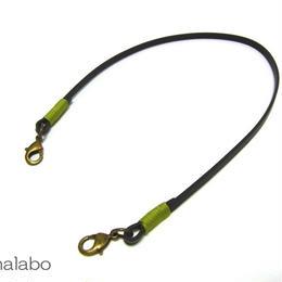 【HA-608】《高級レザー》がま口用の革紐(かわひも)41cm【アンティーク金具】