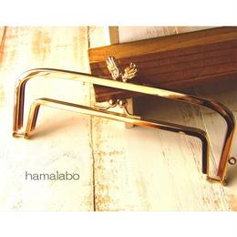 6月30日販売開始!【HA-1527】親子口金 19cm(「天使の羽」×ゴールド)