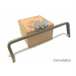 <廃盤予定>【HA-1248】16.5cm/角型(クリスタルスモールラメ)・アンティークゴールド