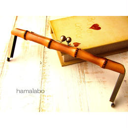 【HA-1373】竹の口金27cm(アンティークゴールド)-薄焼き-