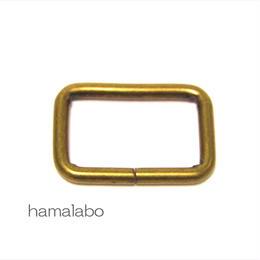 【HA-572】角カン(25mm幅)×4個入り(アンティークゴールド)
