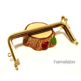 <廃盤予定>【HA-1406】<横ひねり>10cm/角型の口金(ゴールド)