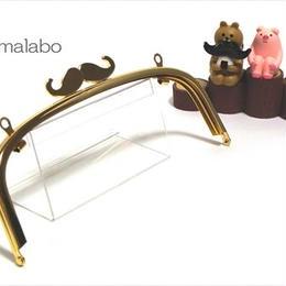 <廃盤予定セール>【HA-309】ヒゲ口金/20.4cmくし型(ゴールド)・兼用カン付き