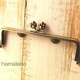 7月17日販売開始!【HA-104】16.5cm/角型(肉球)・アンティークゴールド